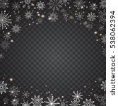 realistic falling snowflakes... | Shutterstock .eps vector #538062394