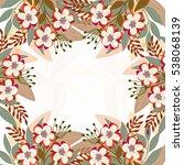invitation or wedding card... | Shutterstock .eps vector #538068139