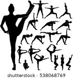 silhouettes of slim girl... | Shutterstock .eps vector #538068769