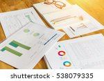 close up of stack of papers ... | Shutterstock . vector #538079335