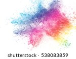 abstract powder splatted... | Shutterstock . vector #538083859