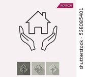 donate vector icon.... | Shutterstock .eps vector #538085401