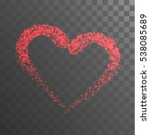 shining heart with red lights... | Shutterstock .eps vector #538085689