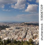 view of athens and acropolis... | Shutterstock . vector #538087339