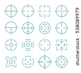crosshairs icons set in line... | Shutterstock .eps vector #538089979