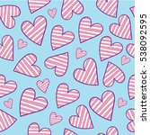 hearts seamless background | Shutterstock .eps vector #538092595