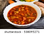 Vegetable Tomato Soup In A...