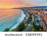 nice in the evening after sunset | Shutterstock . vector #538099591