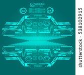 futuristic emerald virtual...