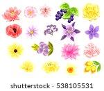 flower set | Shutterstock .eps vector #538105531