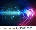 abstract future technology... | Shutterstock .eps vector #538110325