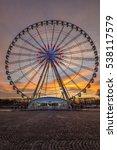 Place De La Concorde At Sunset...