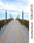 Small photo of Italy, Francavilla, the gangway on the sea