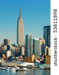 new york city skyline over... | Shutterstock . vector #53811898