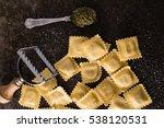 fresh ravioli | Shutterstock . vector #538120531
