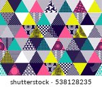 seamless background with... | Shutterstock . vector #538128235