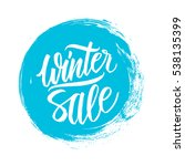 winter sale. special offer... | Shutterstock .eps vector #538135399