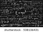 blackboard inscribed with... | Shutterstock .eps vector #538136431