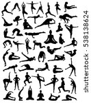yoga silhouettes | Shutterstock .eps vector #538138624