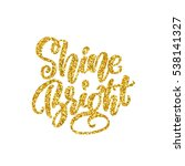shine bright golden texture... | Shutterstock .eps vector #538141327