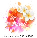 abstract travel background with ... | Shutterstock .eps vector #538145809
