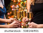 women's hands with glasses of... | Shutterstock . vector #538146901
