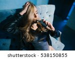 portrait of sexy woman in... | Shutterstock . vector #538150855