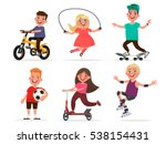 set of children's characters of ... | Shutterstock .eps vector #538154431