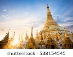 Shwedagon Pagoda At Sunset ...