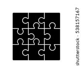 puzzle icon vector illustration | Shutterstock .eps vector #538157167