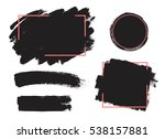 set of black paint  ink brush... | Shutterstock .eps vector #538157881