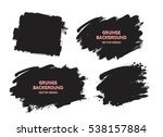 Stock vector set of black paint ink brush strokes brushes lines dirty artistic design elements boxes 538157884
