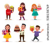 surprise for children. boys and ... | Shutterstock .eps vector #538158769