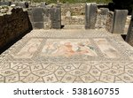 Small photo of Abduction of Hylas by Nymphs depicted in mosaic in House of Venus in Roman city of Volubilis, Morocco, a UNESCO world heritage site.