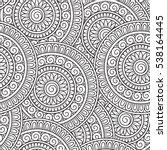 doodle background in vector... | Shutterstock .eps vector #538164445