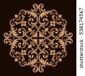 gold vintage baroque ornament... | Shutterstock .eps vector #538174567