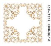 gold vintage baroque ornament... | Shutterstock .eps vector #538174579
