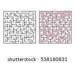 vector labyrinth. maze  ...   Shutterstock .eps vector #538180831