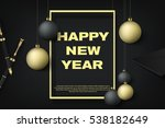 happy new year premium gold... | Shutterstock .eps vector #538182649