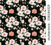 seamless cute pattern of summer ... | Shutterstock .eps vector #538184329