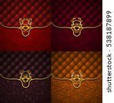 set of elegant golden shields... | Shutterstock .eps vector #538187899