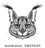 lynx   caracal   bobcat head... | Shutterstock .eps vector #538194529