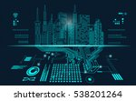 abstract technology background  ... | Shutterstock .eps vector #538201264