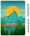modern illustration in color of ... | Shutterstock .eps vector #538206235