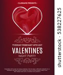 valentines day party poster... | Shutterstock .eps vector #538227625