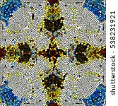 mosaic colorful pattern for... | Shutterstock . vector #538231921
