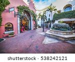 small square in santa barbara ... | Shutterstock . vector #538242121