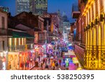 pubs and bars with neon lights... | Shutterstock . vector #538250395