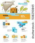 wind infographic. tornado and... | Shutterstock .eps vector #538250845