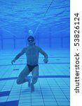 underwater shoot of swimming... | Shutterstock . vector #53826124